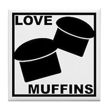 Love Muffins Tile Coaster