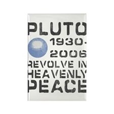 Pluto Revolve In Heavenly Peace Rectangle Magnet