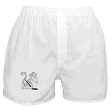 Cute Hockey monkey Boxer Shorts