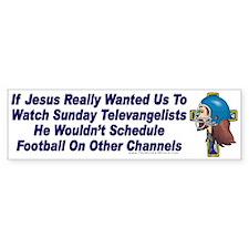 Jesus and Sunday Football Bumper Bumper Sticker