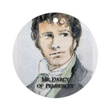 Mr Darcy Of Pemberley Ornament (Round)