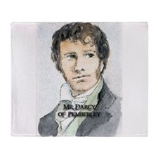 Mr Darcy Of Pemberley Throw Blanket