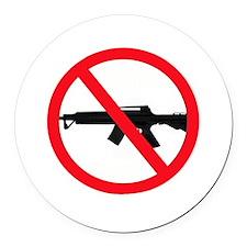 Ban Assault Weapons Round Car Magnet
