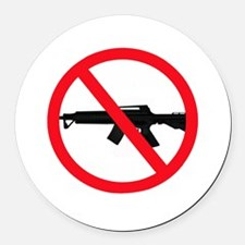 Ban Assault Weapons Round Car Magnet