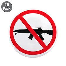 """Ban Assault Weapons 3.5"""" Button (10 pack)"""