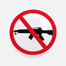 """Ban Assault Weapons 3.5"""" Button"""