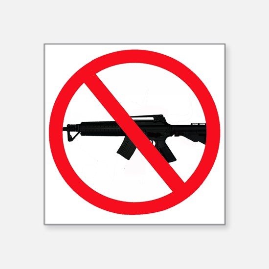 "Ban Assault Weapons Square Sticker 3"" x 3"""