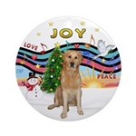 XmasMusic1-Golden (K) Ornament (Round)