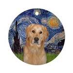 Starry Night Golden Retriever (K) Ornament (Round)