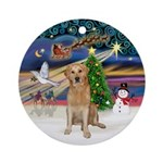 XmasMagic-Golden (K) Ornament (Round)