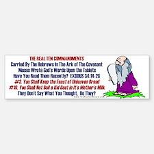 The REAL 10 Commandments Bumper Bumper Bumper Sticker