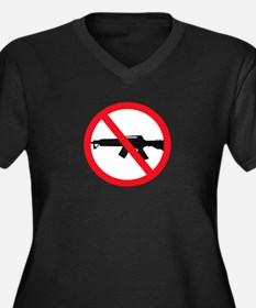 Ban Assault Weapons Women's Plus Size V-Neck Dark