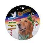 Xsigns-Golden Retriever (round) Round Ornament