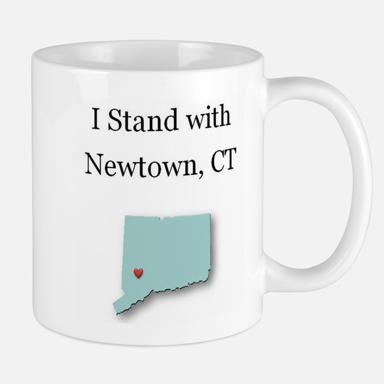 I Stand with Newtown, CT - blue Mug