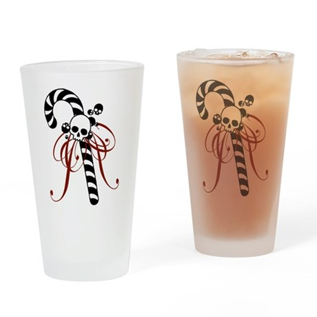 skull-candy-cane_bl.png Drinking Glass