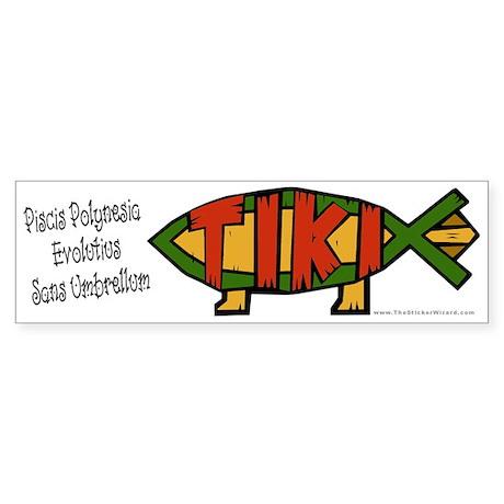 Tiki Fish Bumper Sticker