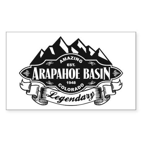 Arapahoe Basin Mountain Emblem Sticker (Rectangle)