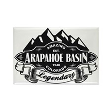 Arapahoe Basin Mountain Emblem Rectangle Magnet