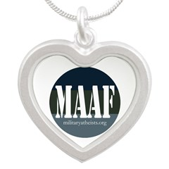 MAAF logo Silver Heart Necklace