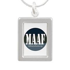 MAAF logo Silver Portrait Necklace