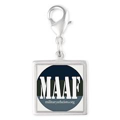 MAAF logo Silver Square Charm
