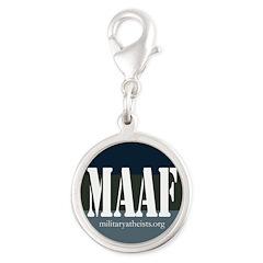 MAAF logo Silver Round Charm
