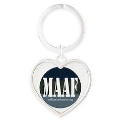 MAAF logo Heart Keychain