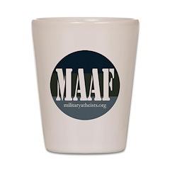MAAF logo Shot Glass