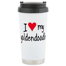 Cute Golden doodle Travel Mug