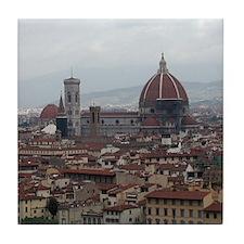 Florence Cityscape Tile Coaster