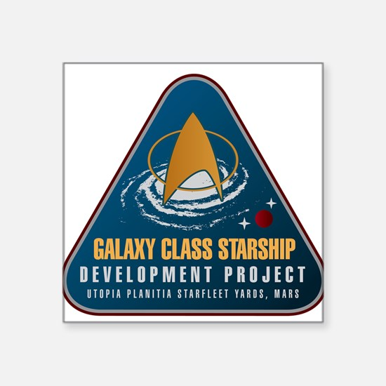 Startrek Galaxy Class Starship Project Square Stic