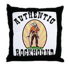 Authentic Rockhound Throw Pillow