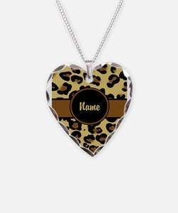 Leopard Print Personalized Necklace
