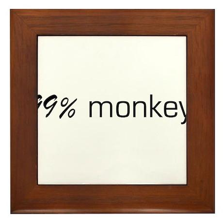 99% Monkey Framed Tile