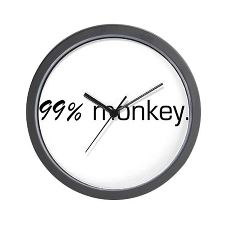 99% Monkey Wall Clock