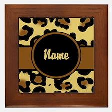 Leopard Print Personalized Framed Tile
