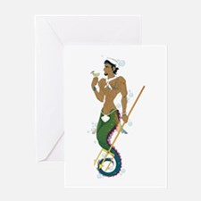 Seahorse Sailor Greeting Card