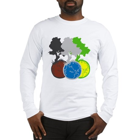 OYOOS Trees Earth design Long Sleeve T-Shirt