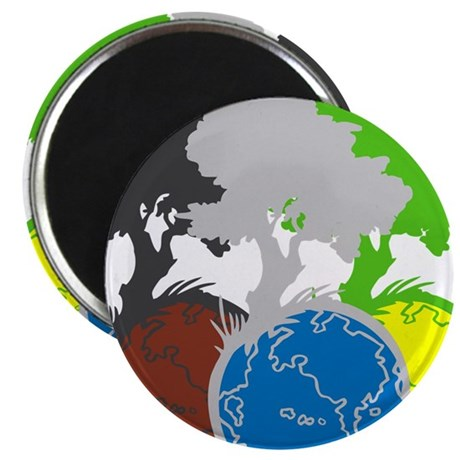 """OYOOS Trees Earth design 2.25"""" Magnet (10 pack)"""