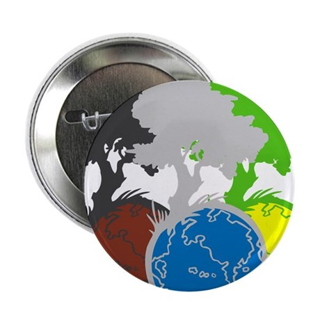 """OYOOS Trees Earth design 2.25"""" Button (10 pack)"""