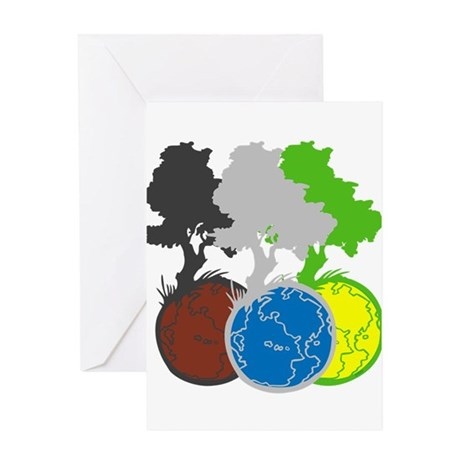 OYOOS Trees Earth design Greeting Card