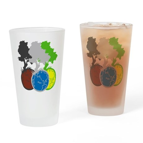 OYOOS Trees Earth design Drinking Glass