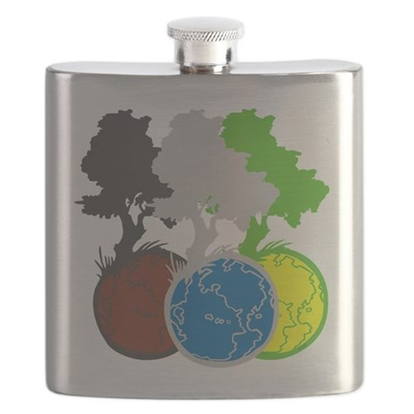 OYOOS Trees Earth design Flask