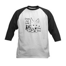 Paws4Critters Crazy Cat Lady Dog Diva Tee