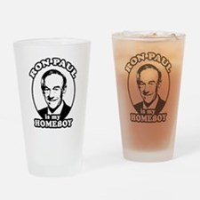 Cute Ron paul is my president Drinking Glass