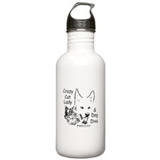 Paws4Critters Crazy Cat Lady Dog Diva Water Bottle