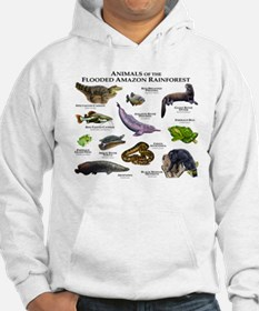 Animals of the Flooded Amazon Rainforest Hoodie