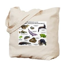 Animals of the Flooded Amazon Rainforest Tote Bag