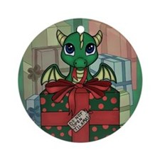 Baby Dragon XMAS Ornament (Round)