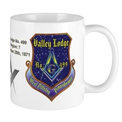 Valley Lodge No. 499 Custom Masonic Small Mug